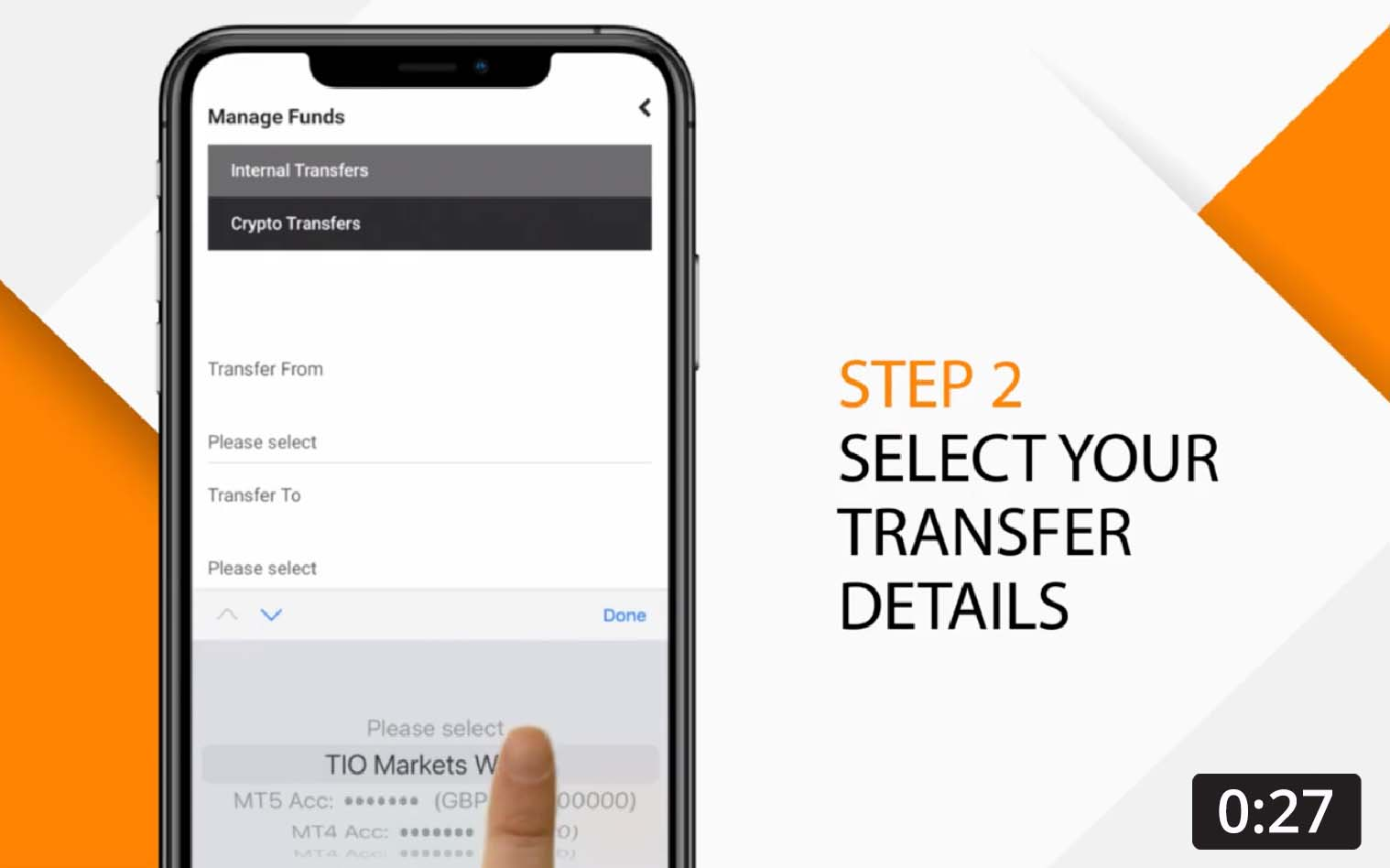 Transfer to your trading account